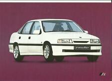 VAUXHALL IRMSCHER VECTRA/CAVALIER NOTCHBACK SALES BROCHURE/SHEET NOVEMBER 1988