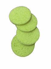 BEAUTY MASK REMOVER LARGE CELLULOSE SPONGES x 4 facial, make up, cosmetic(green)