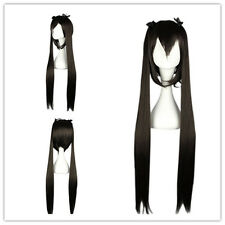 "Cosplay Wig Party Wigs Synthetic Hair 100cm/39.4"" for K-ON-Nakano Azusa Black"