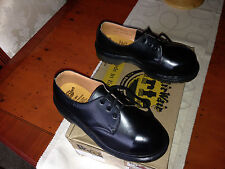 Vintage Dr Martens 1925 black steel toe shoes UK 3 EU 36 skin punk goth England
