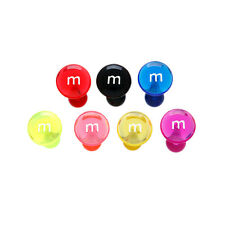 40pcs M&M Style UV Tongue Rings Tounge 14g Wholesale Body Jewelry Lot