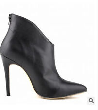 Womens Pointy Toe Ankle Boot High Heel Stiletto Patent Leather Shoes All US Sz