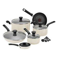 TEFAL 7PC EXCITE NON-STICK POT PAN FRY FRYPAN SAUCEPAN FRYING COOKWARE SET CREAM