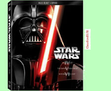 Star Wars Trilogy: Episodes 4-6, free shipping factory sealed (Blu-ray/DVD)