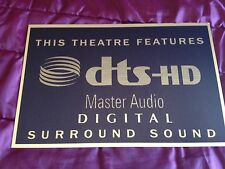 DTS HD Master Audio Home Cinema Sign