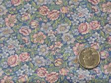 """Springs Pale Pink Blue Green Floral Cotton Quilting Fabric 44"""" BTHY"""