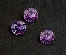 TWO 8mm Round Synthetic Corundum Amethyst Purple Blue Flash Gem Gemstone 6129