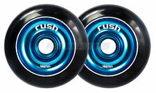 Pair Rush Black/ Blue Alloy Core 100mm Scooter Wheels