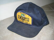 Vintage Bass FISHING Tournament KILT Houston Radio 1996 USED Trucker Cap HAT
