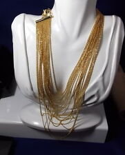 NEW Box Joan Rivers Gold Brilliant Chain Cascading Water Fall Necklace