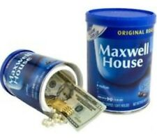 Maxwell House Coffee Diversion Safe Hidden Home Security Secret Hide Jewelry NEW