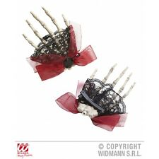 9521B Skeleton hand hair clip halloween fancydress accessory