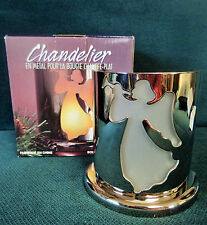 SILVER TONED CHRISTMAS ANGEL TEA LIGHT CANDLEHOLDER CANDLE HOLDER SILVER COLORED