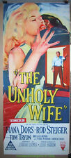 THE UNHOLY WIFE MOVIE POSTER Original DIANA DORS Australian 1957 STONE LITHO Art