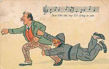 POSTCARD  COMIC   Policeman  Music  Related....