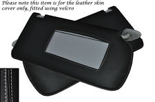 GREY STITCH FITS HONDA ACCORD MK7 2003-2007 2X SUN VISORS LEATHER COVERS ONLY