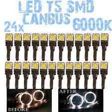 N° 24 Gloeilampen LED T5 Wit 6000K SMD 5050 Koplampen Angel Eyes DEPO FK 12v 1E3