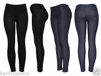 New womens ladies girls skinny fit jegging leggings jeans blue  black uk 8-20