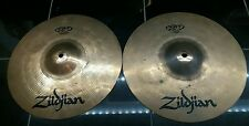 "**Zildjian 13"" ZBT Top and Bottom HiHats Cymbals"