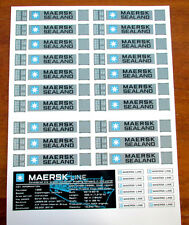 MAERSK SEALAND CUSTOM REPLACEMENT STICKERS for Lego 10152  10155 , etc + PLAQUE