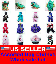 WHOLESALE LOT OF 5 Chihuahua Pet Dog Clothes Puppy Costume New Apparel  Male  M
