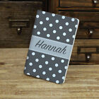 Polka Dots Custom Personalized Leather Passport Holder Case Cover, many colors