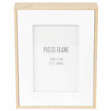 """4"""" x 6"""" White Brown Wooden Photo Picture Photograph Frame Standing Wall Mounted"""