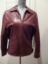 Coach Brown Leather Bomber Style Jacket/Coat super soft leather SZ S