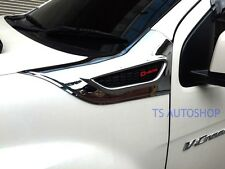 FITT CHROME BLACK SIDE VENT FENDER COVER FOR ISUZU D-MAX DMAX 2012-2015 TRUCK
