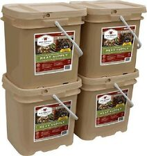 Wise Foods 240 Serving Gourmet Freeze Dried Real Meats MRE Emergency w/FREE RICE