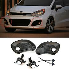 OEM Parts Fog Light LAMP + COVER + CONNECTOR Set For KIA 2012-2015 Rio Hatchback