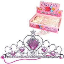 5 ~ SILVER TIARA PRINCESS CROWNS ~ GIRLS BIRTHDAY PARTY GIFT BAG FILLERS TOYS