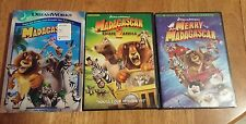 Lot of 3 Dreamworks DVDs-Madagascar, Madagascar Escape 2 Africa,Merry Madagascar