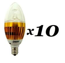 10 Pack 3W Candelabra Base LED Light Bulbs E12 Lamps 110V Chandelier Light Bulb
