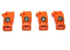 Side Buckle Whistle Compass Flint Fire Starter Scaper for Paracord Bracelet oran