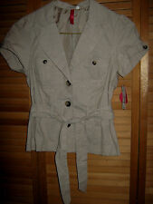 NEW WITH TAGS -JUNIORS WOMENS HEART SOUL JACKET / SHIRT --SIZE 3-5--SIZE S