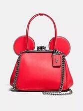 NWT Disney X Coach Limited Edition Mickey Mouse Kisslock Bag Red *Sold Out*