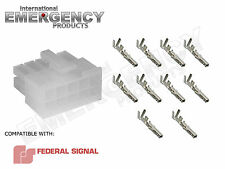 10 Pin Connector Plug for Federal Signal PA300R Smart Siren 650 Platinum Ver 2