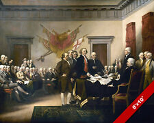 SIGNING THE DECLARATION OF INDEPENDENCE FINE ART PAINTING REAL CANVAS 8X10 PRINT