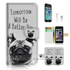 iPhone 6 / 6S (4.7') Flip Wallet Case Cover! P1616 Better Day Dog