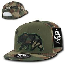 California Republic Camouflage Snapback Cap Hat Camo Cali Bear Flag Caps Hats