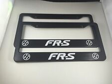 Two Scion FR-S Plastic License Plate Frame Decal Vinyl