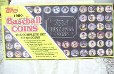 COMPLETE SET OF 60 BASEBALL COINS TOPPS 1990 NIB