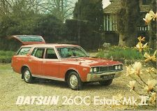 Datsun Nissan 260C Mk II Estate 1976-77 UK Market Sales Brochure Cedric