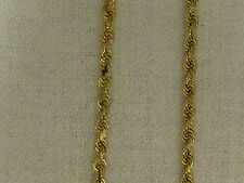 "14KT YELLOW GOLD 2.5 MM  Diamond Cut ROPE CHAIN-22""   #02-0023"