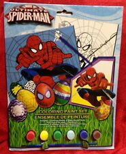 Marvel Spider-man Easter Spring Edition Coloring Paint Set Arts & Crafts W/Brush
