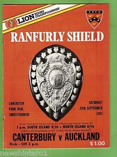 #SS. RUGBY UNION PROGRAM-  24TH SEPTEMEBR 1983, CANTERBURY VS AUCKLAND