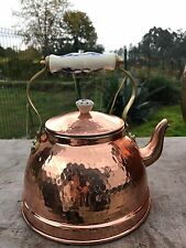1 L Copper Tea pot kettle with porcelain handle 0.25 G