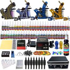 Solong Tattoo Kit 4 Machine Guns 54 Color Inks Needles Power Supply Set Tip