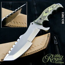 "12"" ROYAL CUSTOM MADE D2 STEEL TRACKER KNIFE - MICARTA - RO-3851"